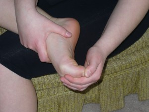 Flexing your toes during a foot massage